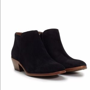 Sam Edelman Petty Ankle Boots Black Suede Sz 9